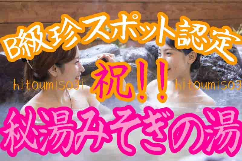 名古屋B級珍スポットみそぎの湯