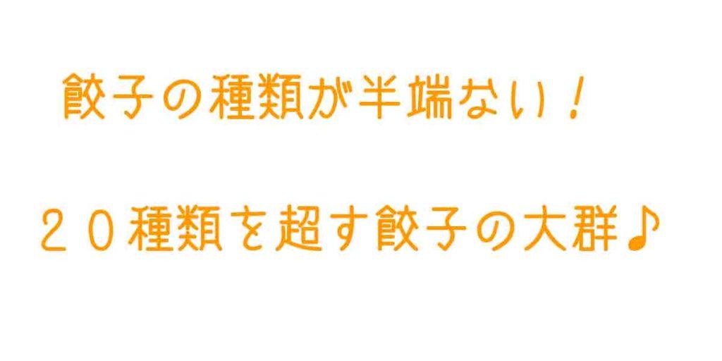浜松駅の近くで浜松餃子