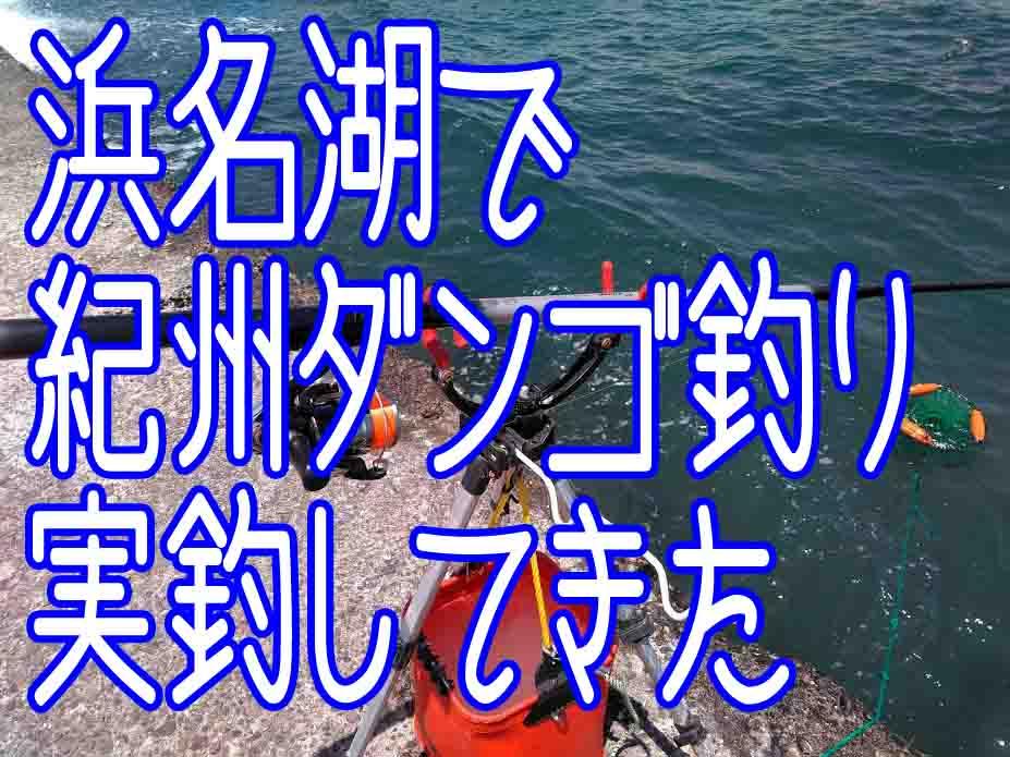 浜名湖で紀州だんご釣りやってきた