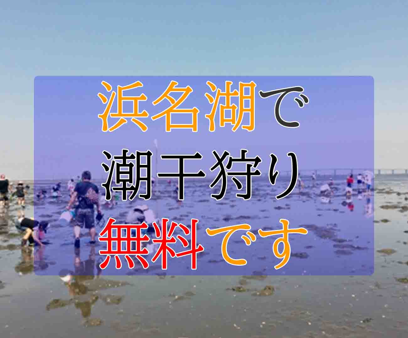 浜名湖潮干狩り場所